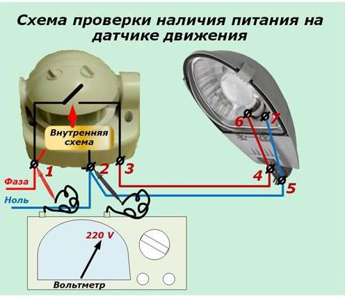 3 типовые схемы подключения датчика движения для включения света