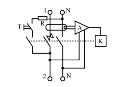 Схема сравнения (А) электронной диф защиты питается отдельно.