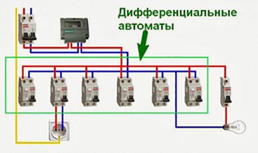 Схема включения ДИФ №2