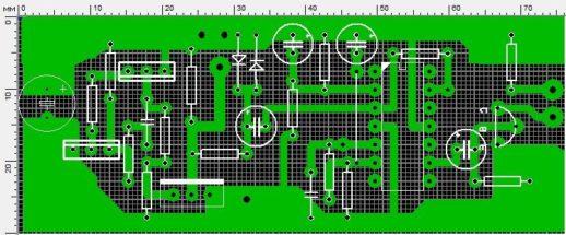 Плата на транзисторах