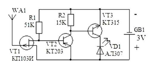 Рис. 3 Схема искателя обрыва
