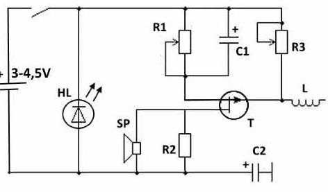 Рис. 2 Схема устройства с возможностью регулирования чувствительности